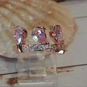 Pink Birds of Feather Ring
